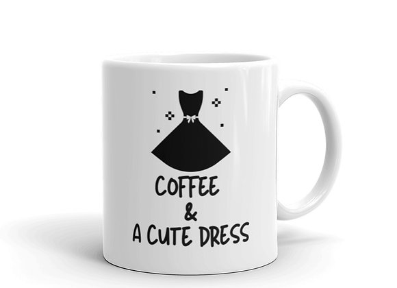 Coffee & Cute Dress Mug