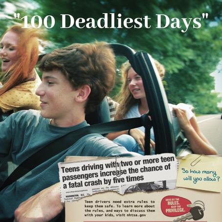 TEEN DRIVER DANGERS: 100 DEADLIEST DAYS