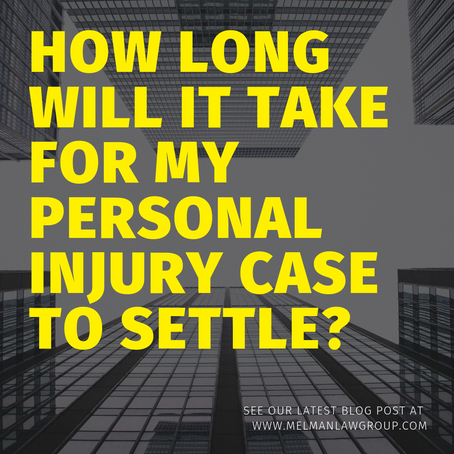 How long will my personal injury case take to settle?