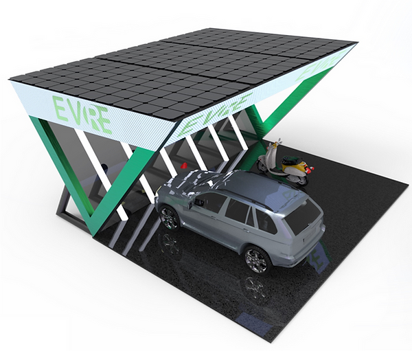 Solar integrated EV charging station