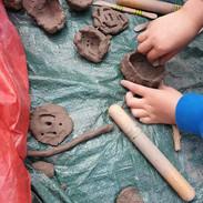 Making clay pots