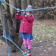 Children enjoy balancing