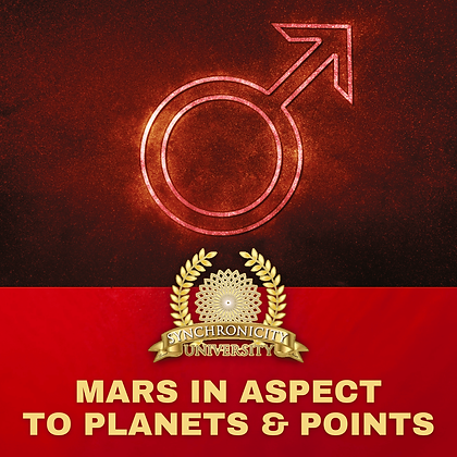Mars in Aspect to Planets and Points