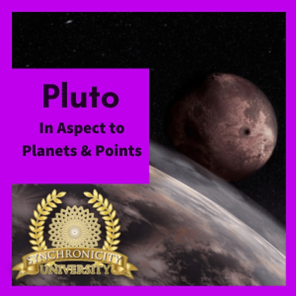 Pluto in Aspect to Planets & Points