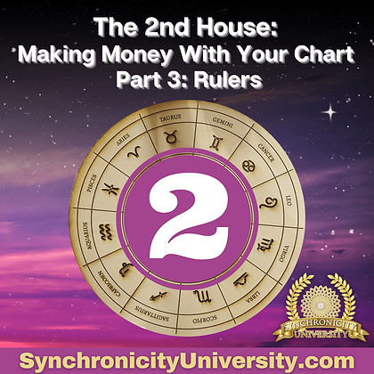 The 2nd House - Making Money With Your Astrology Chart Part 3: Rulers