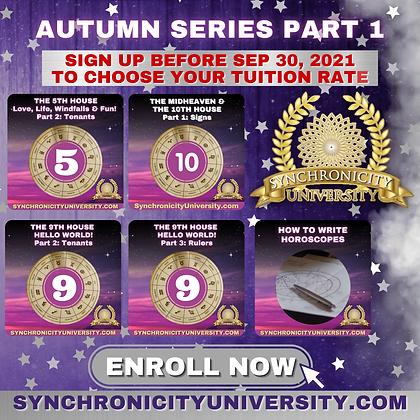 Autumn Series 2021 - Part 1 - Full Access - $145