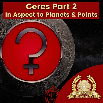Ceres Part 2: In Aspect To Planets & Points