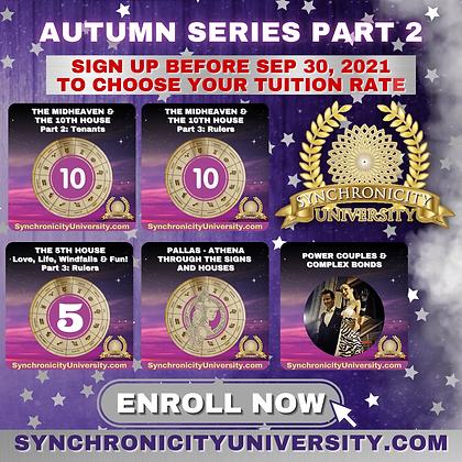 Autumn Series 2021 - Part 2 - Full Access - $50