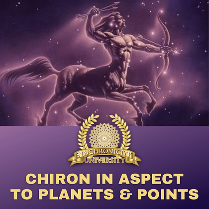 Chiron In Aspect: To Planets and Points