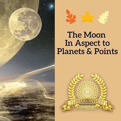 The Moon in Aspect To Planets and Points