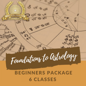 Foundations to Astrology - Beginners Package - 6 Classes Save $35