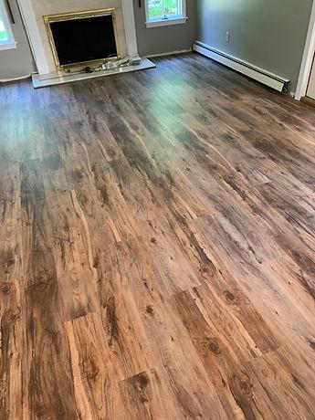vinyl plank flooring in dining room