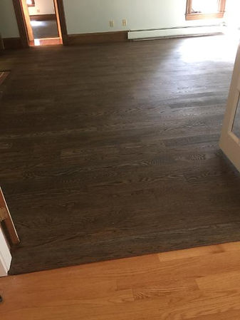 staining 5 inch oak flooring