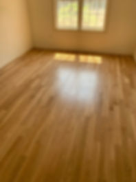 new oak floor with water base finish