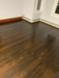 staining pine floor