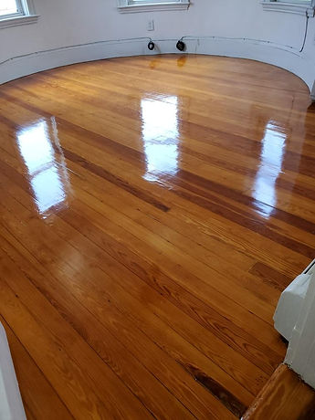 refinished fir floor in dorchester