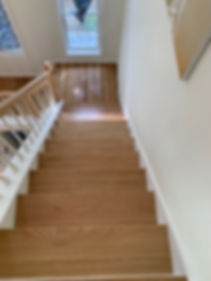 new oak stairs