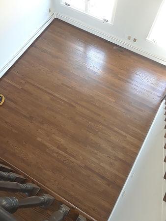 oak floor staining