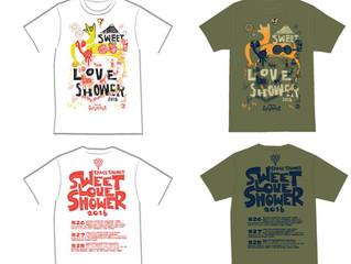 SWEET LOVE SHOWER オフィシャルTシャツ「SLS×ジラファン」作りました。