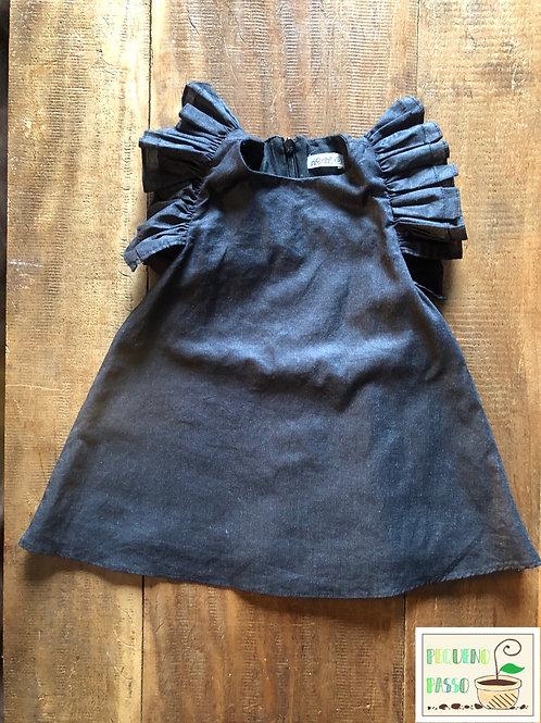 Vestido linho babados - Nosh