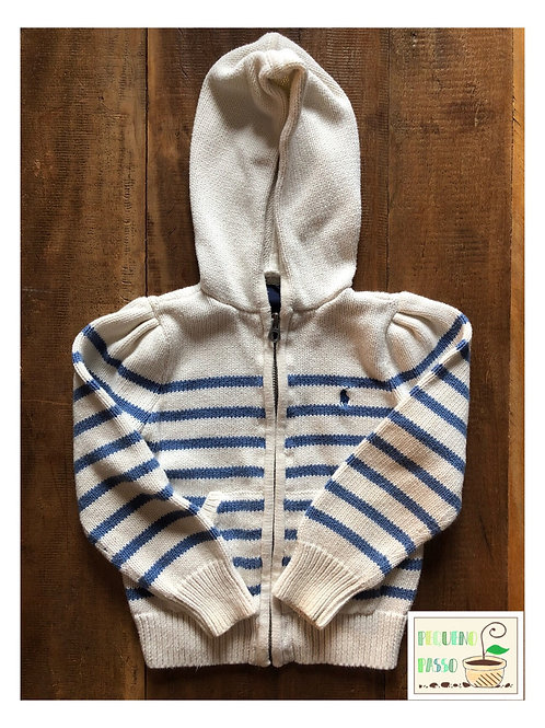 Casaco tricot listrado - Ralph Lauren