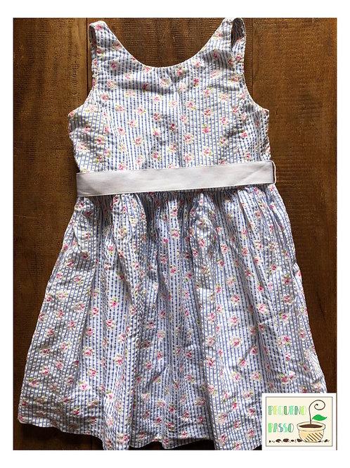 Vestido listras e flores - Ralph Lauren