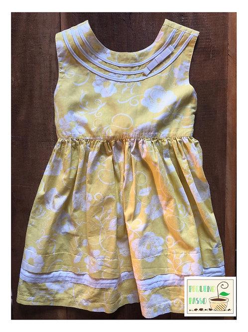 Vestido floral - Aquarela