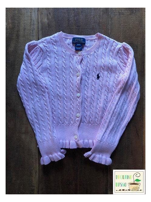 Malha rosa tricot trançado - Ralph Lauren