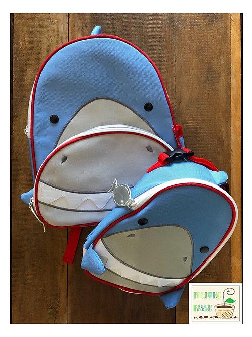 Mochila com lancheira tubarão - SkipHop