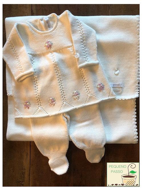 Conjunto tricot com manta - Marca Pinni