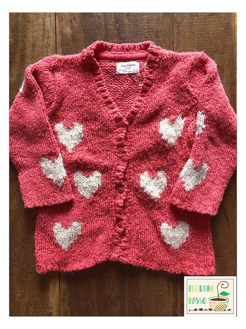 Malha tricot coração - Zara
