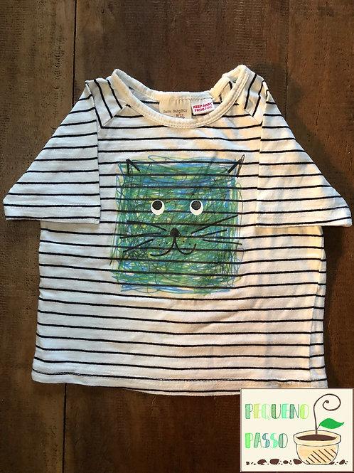 Camiseta gato - Marca Zara