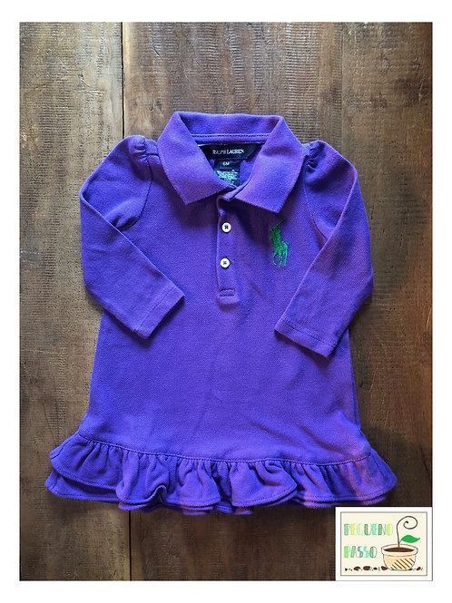 Vestido polo roxo - Ralph Lauren