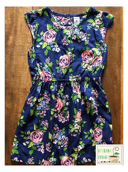 Vestido algodão floral -Carter's