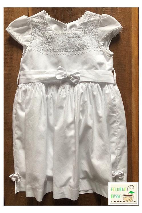 Vestido renda renascença - Fátima Rendas