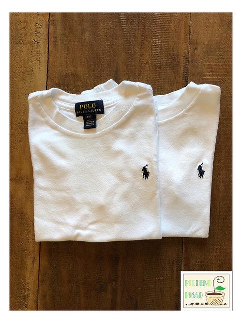 Kit 2 camisetas brancas - Ralph Lauren