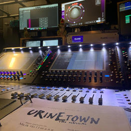 Close up view of Broadcast Mix Set up