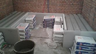 хаммам из бетона и мрамора