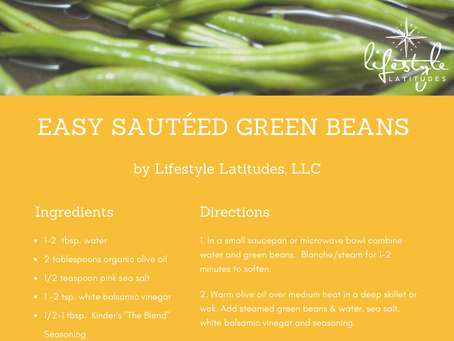 Fantastic Food Friday - Easy Sautéed Green Beans