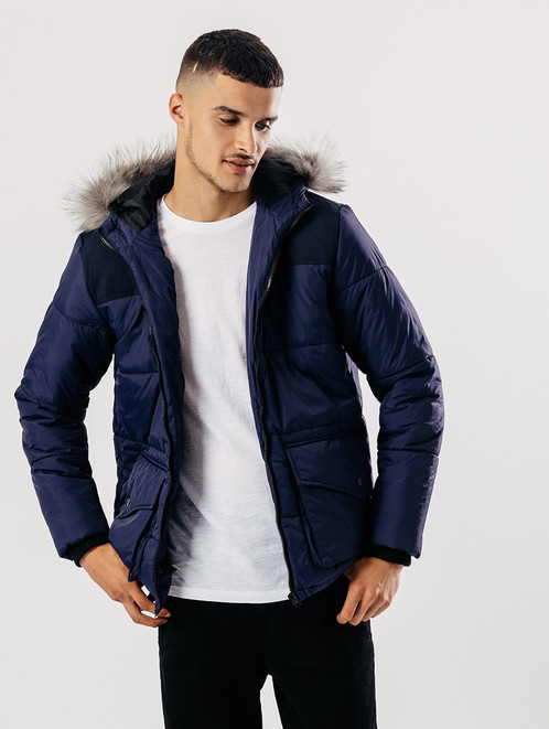 Men Quilted Puffa Jacket With Hood | Clothes | Women's & Men's ... : mens quilted hooded jacket - Adamdwight.com