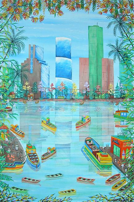 02_Phillips Timothy Miami Docks acrylic
