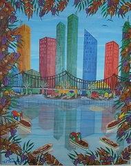 Miami Skyline 16x20 for wix high shelf a
