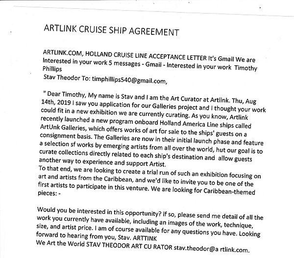 ARTLINK CRUISE SHIP WE ART THE WORLD RES