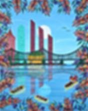 # 30 b Miami River 16x20 2017 $ 800.00 (