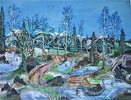 winter wonderland, 18x24 45.7 x 60.9 cm