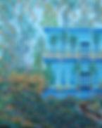 # 77  True Blue  55.8 cm x 71.1 cm 2018,