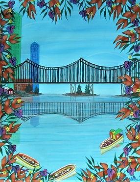 # 30 c Miami River 16x20  2017 $ 800.00