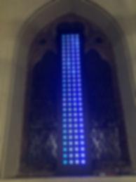 led pixel light sculpture vertical spot