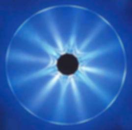 sandblasted glass disk center lit wall light