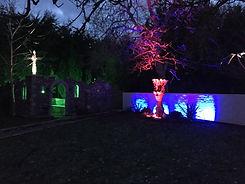 colour chang garden wall